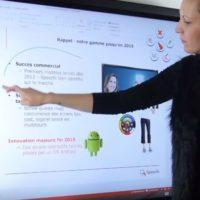 écran interactif grande taille